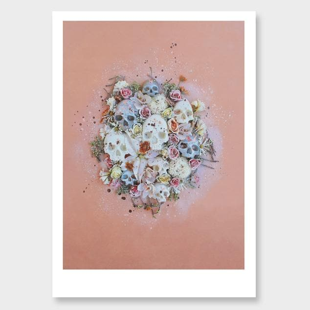 Peach Confetti Photographic Art Print by Georgie Malyon