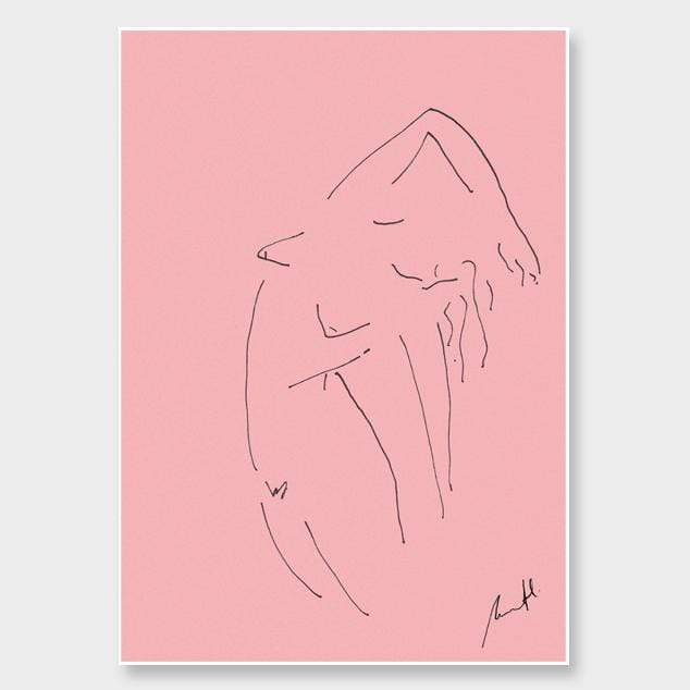 Pink Croquis Art Print by George Sand Studio