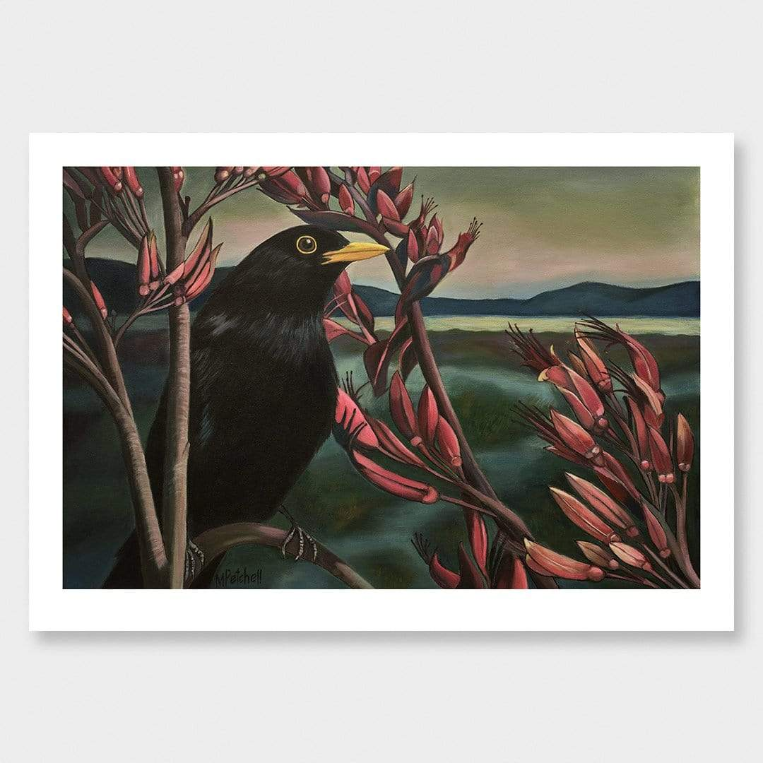 Raymond Blackbird Art Print by Margaret Petchell