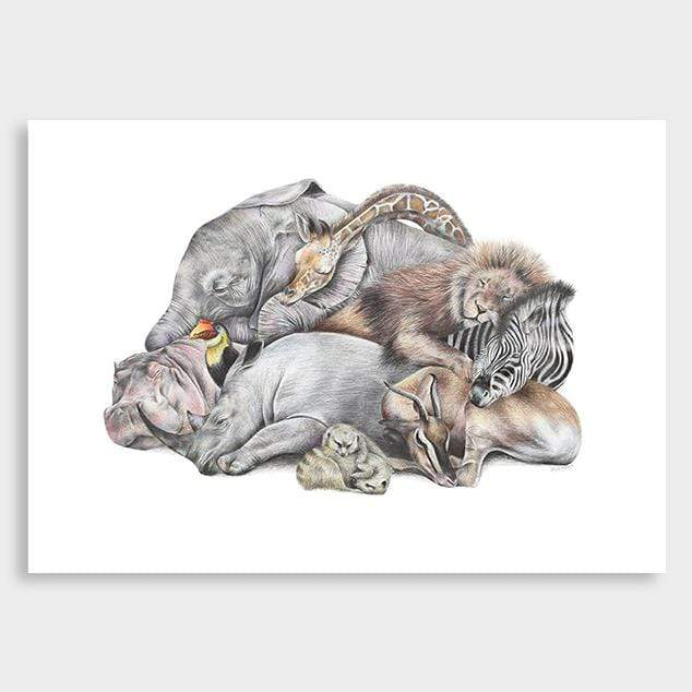 Safari Sleepers Art Print by Olivia Bezett