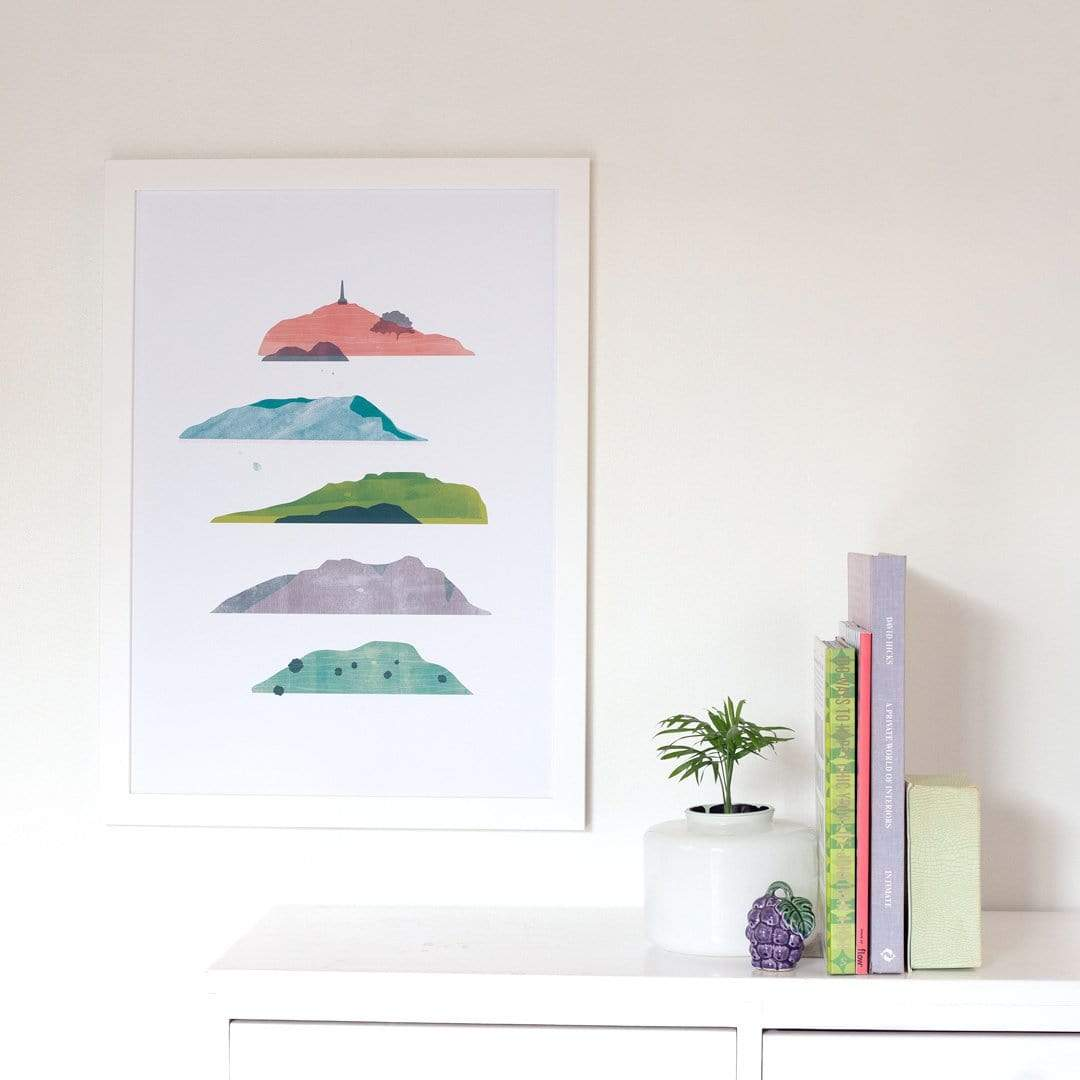 Auckland Mountain Study Art Print by Sarah Parkinson