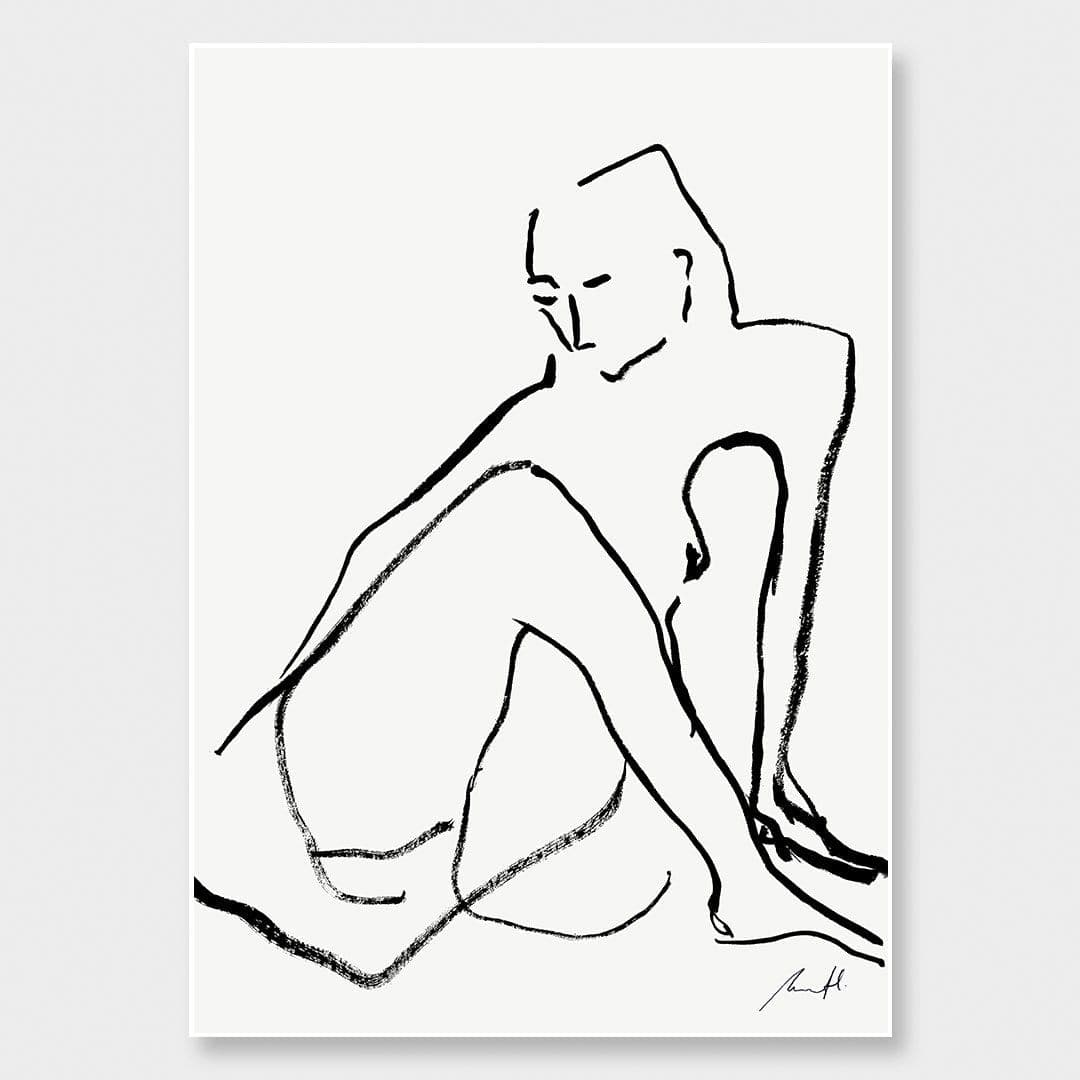 Seated Nude Art Print by George Sand Studio