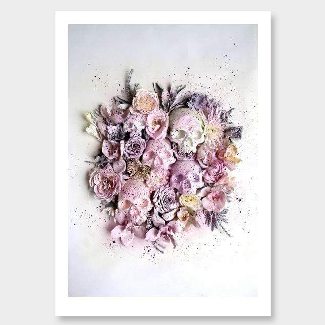 Splatter Skulls Photographic Art Print by Georgie Malyon