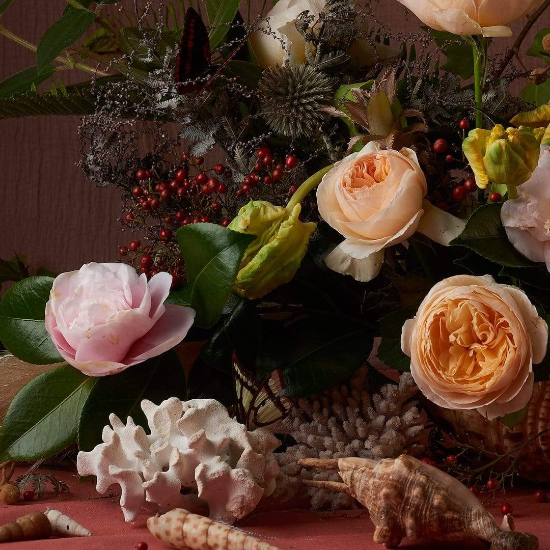 Still Life Flowers and Shells Photographic Print by Georgie Malyon