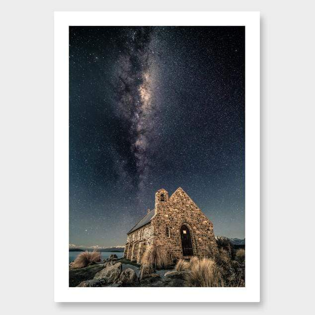 Stone to Stars – Tekapo Photographic Print by Mike Mackinven