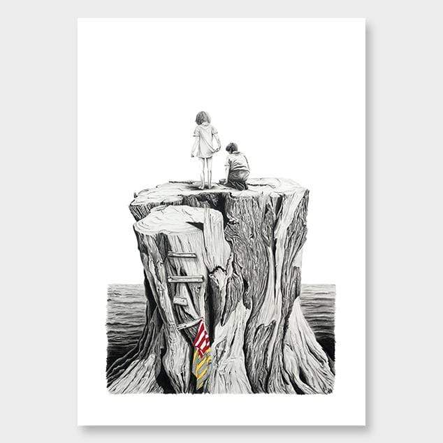 Stump Art Print by Charlotte Hawley