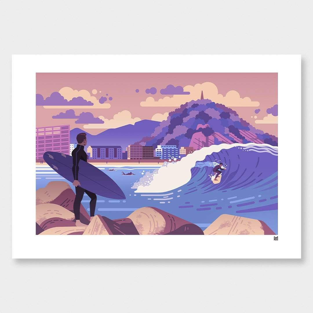 Surf Zerriola Art Print by Ross Murray