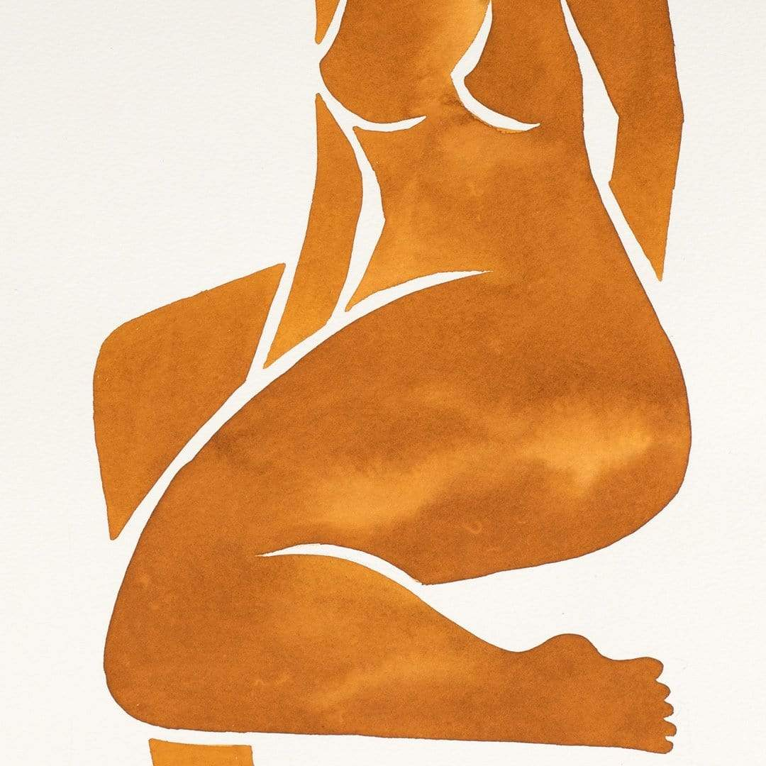 Tan Nude I Original Painting by Katie Revie