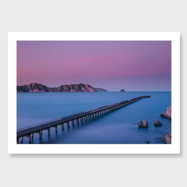 The Wharf – Tolaga Bay Photographic Print by Mike Mackinven
