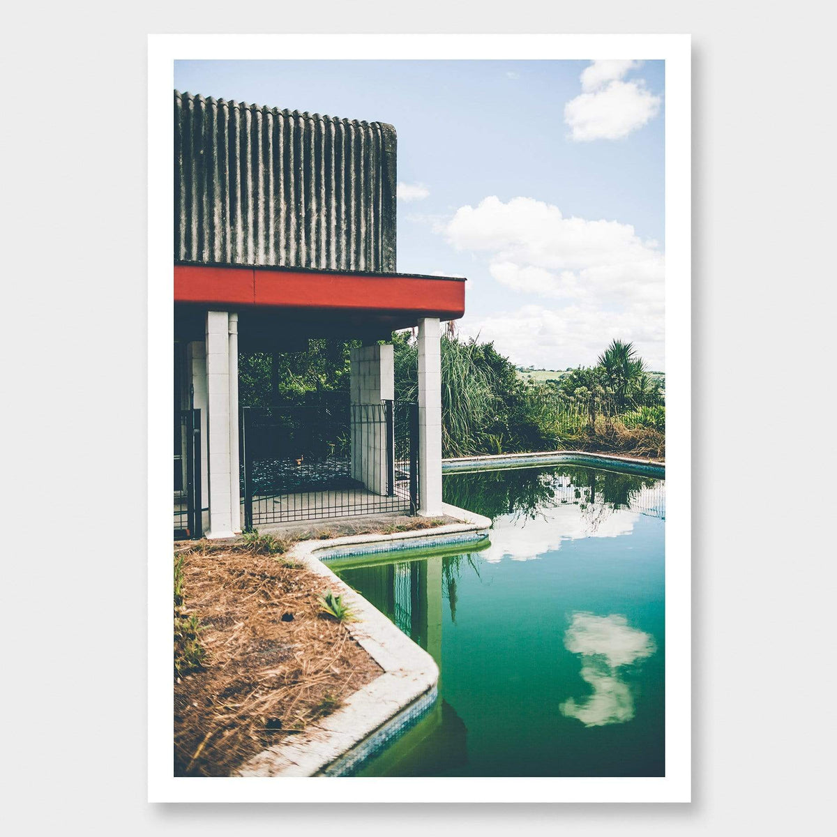 The Pool Is Too Close To The House Photographic Print by Curtis Bunker
