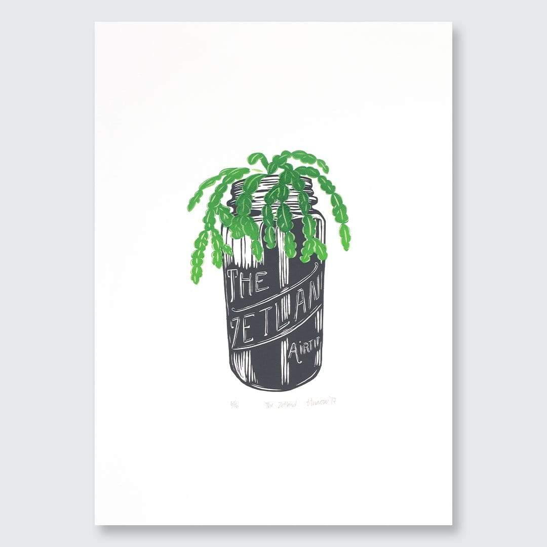 The Zetland Woodblock & Aerosol Print by Ina Arraoui