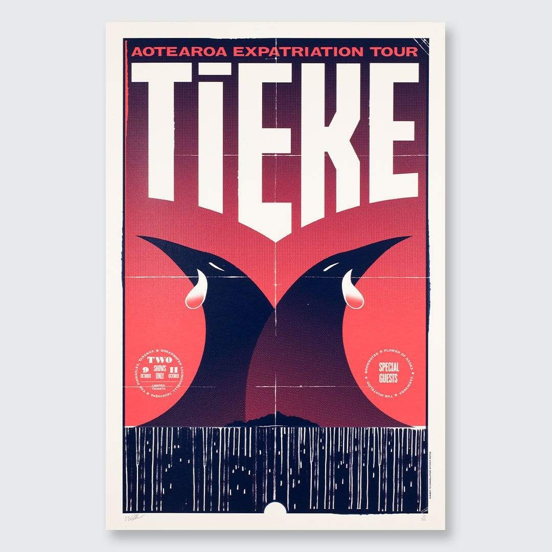 Tieke Tour Screen-Print By Walter Hansen