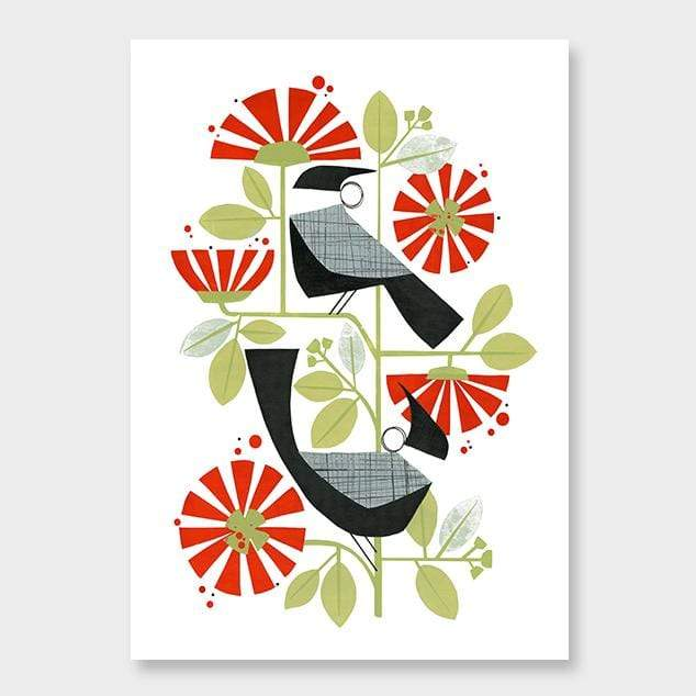 Two Tuis Art Print by Holly Roach