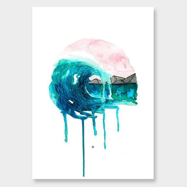 Wave Art Print by Makus Art