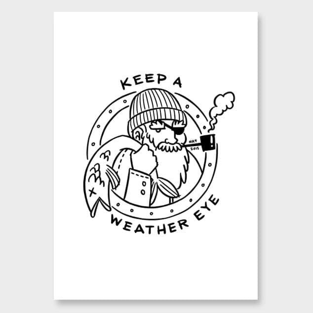 Weather Eye Art Print by Natasha Vermeulen