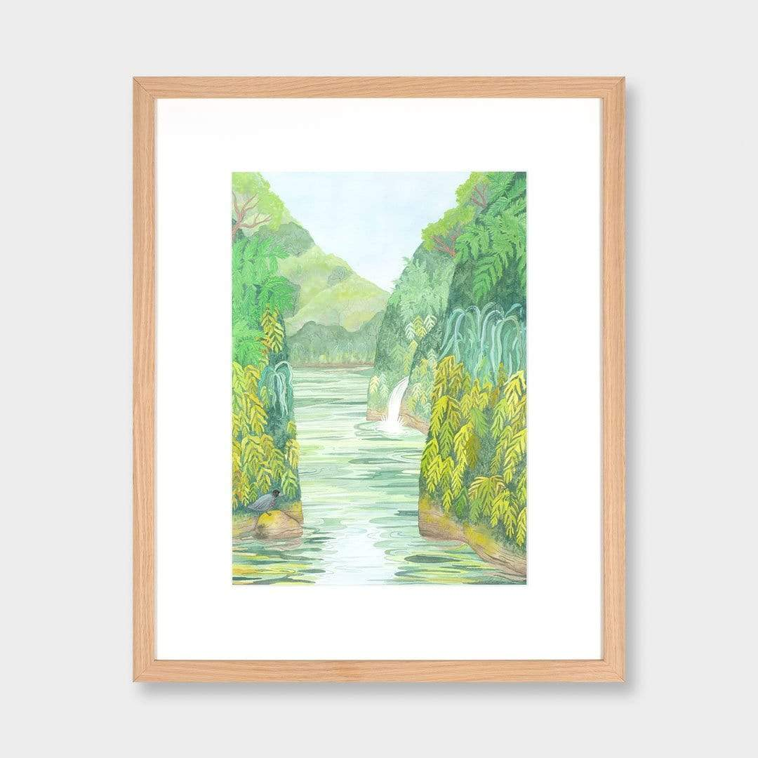 Whio on the Whanganui River Original Painting by Emma Huia Lovegrove