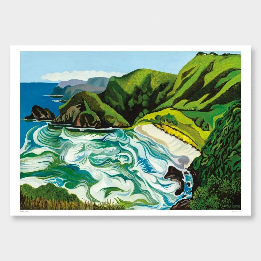 Whites Beach Art Print by Guy Harkness