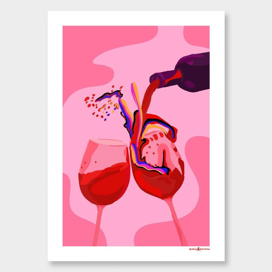 Wine Not Art Print by Restless & Infectious