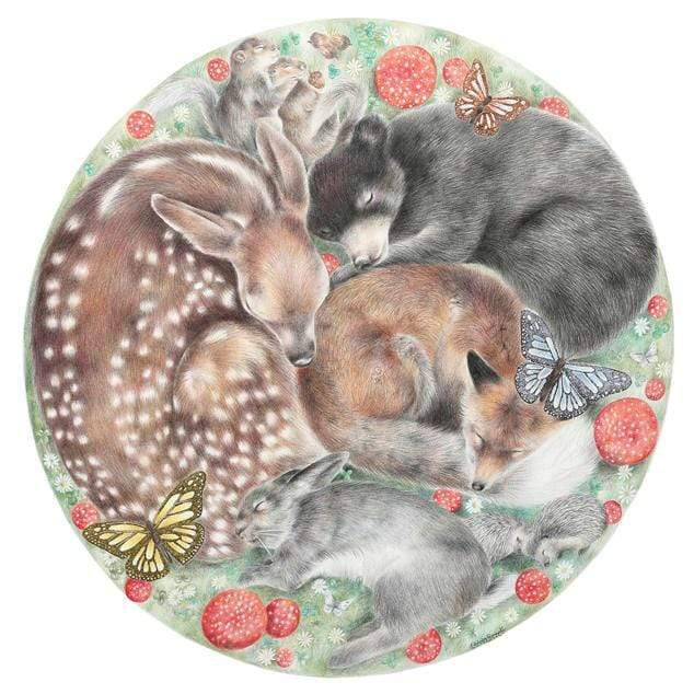 Woodland Dreamers Art Print by Olivia Bezett