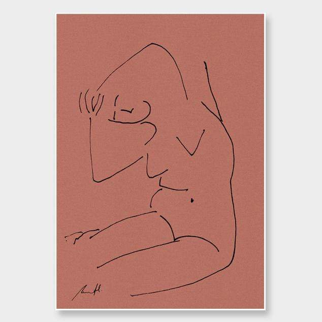 Yoga Croquis Art Print by George Sand Studio