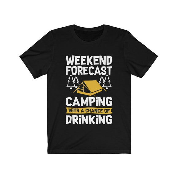 Camping with a Chance of Drinking Mens Shirt - Bucket Social
