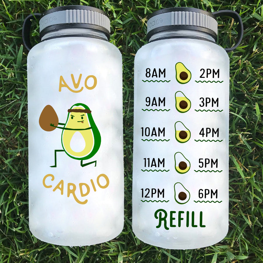 Avo Cardio Tracker Water Bottle | 34oz