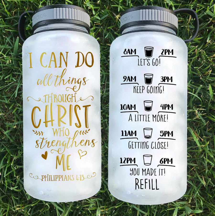 All Things Through Christ Tracker Water Bottle | 34oz