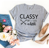 Classy But I Cuss a Little Womens T-shirt - Bucket Social