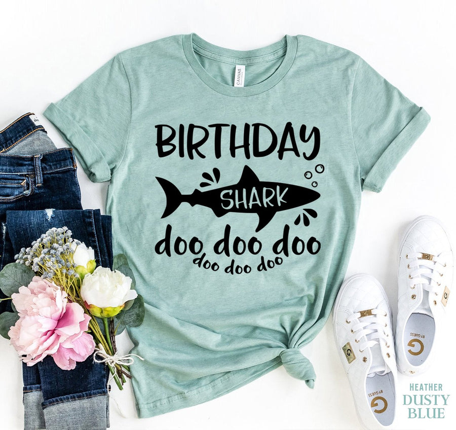 Birthday Shark Doo Doo Doo Women's T-Shirt - Bucket Social