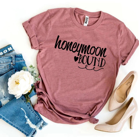 Honeymoon Bound Bride Newlywed Women's T-Shirt - Bucket Social