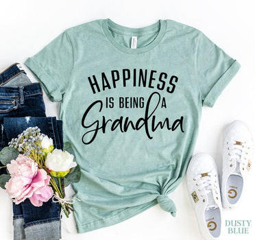 Happiness Is Being A Grandma Women's T-shirt - Bucket Social