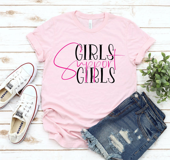 Girls Support Girls T-Shirt - Bucket Social