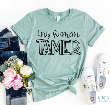 Tiny Human Trainer Womens T-shirt