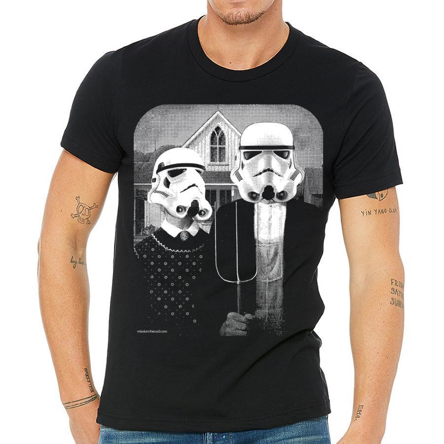 Star Wars American Gothic Mens T-Shirt - Bucket Social