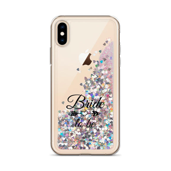 Bride To Be Iphone Liquid Glitter Phone Case - Bucket Social