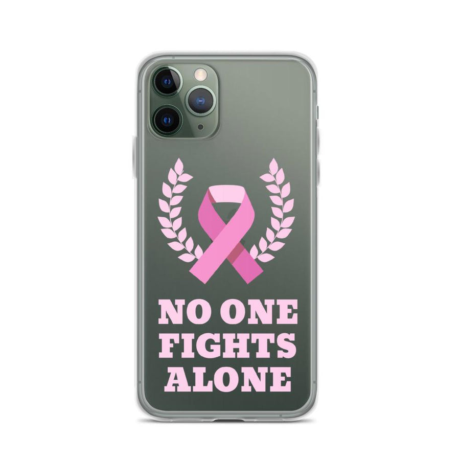 Noone Fights Alone Cancer Awareness IPhone Case - Bucket Social