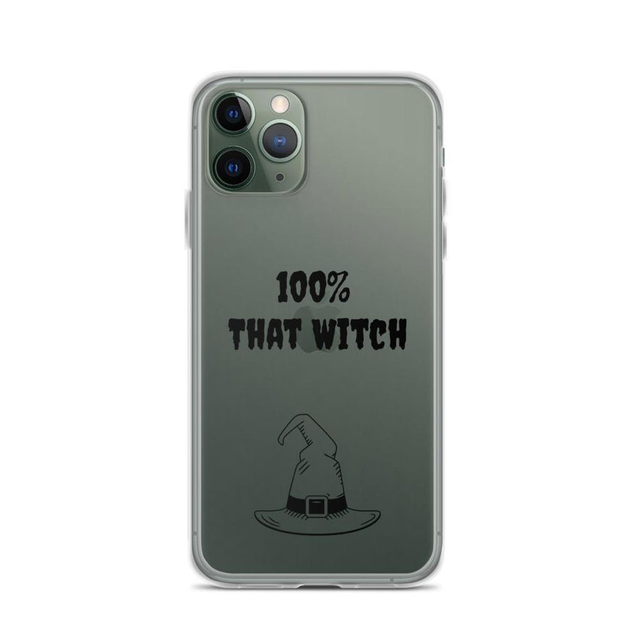 100% That Witch iPhone Phone Case Clear Case - Bucket Social