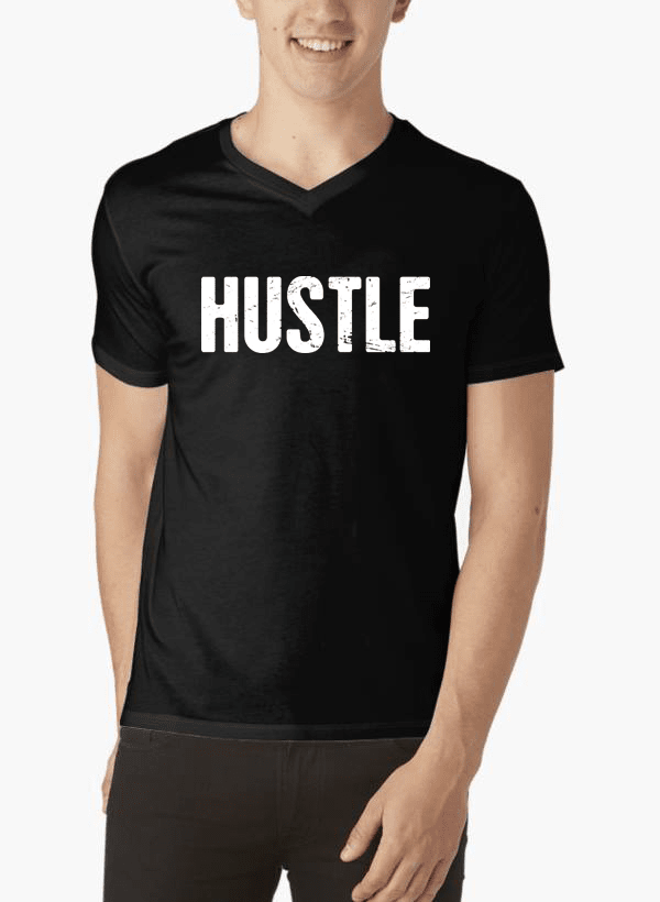 Hustle V-Neck T-shirt