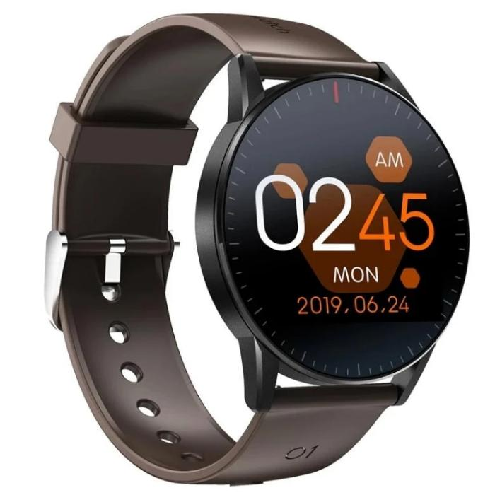 Android Waterproof Heart Rate Sleep Monitor Fitness Tracker Music Control Smartwatch