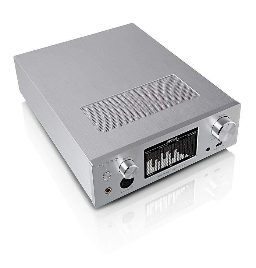 OPPO Digital New Zealand HA-1 Headphone Amplifier Silver - Top Angled View