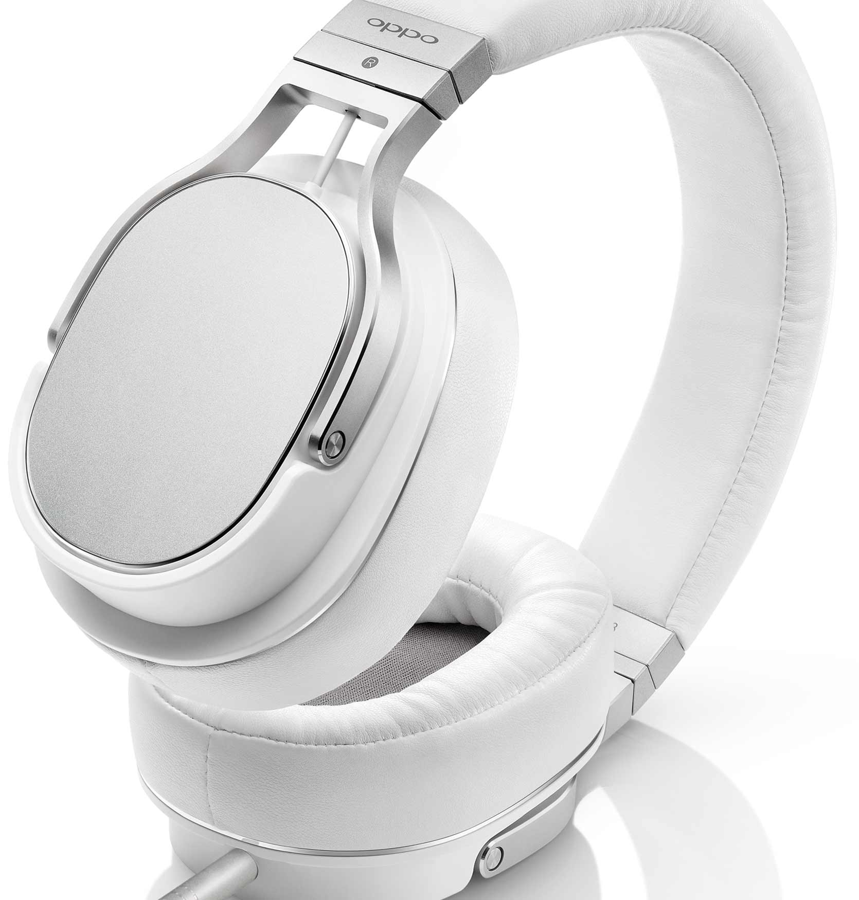 OPPO Digital New Zealand PM-3 Planar Magnetic Headphones White (Side Up)
