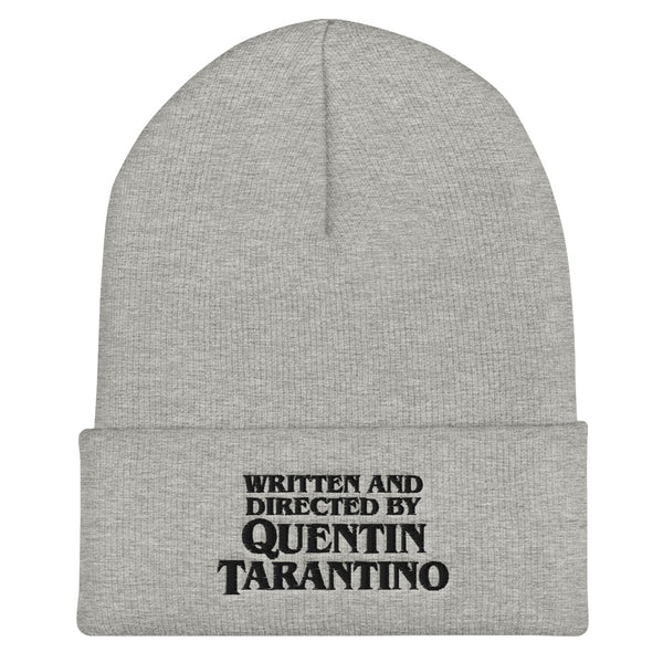 """Written and Directed by QT"" Cuffed Beanie"