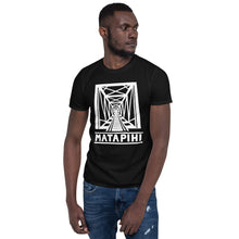 Load image into Gallery viewer, MATAPIHI Unisex T-Shirt (white on black)