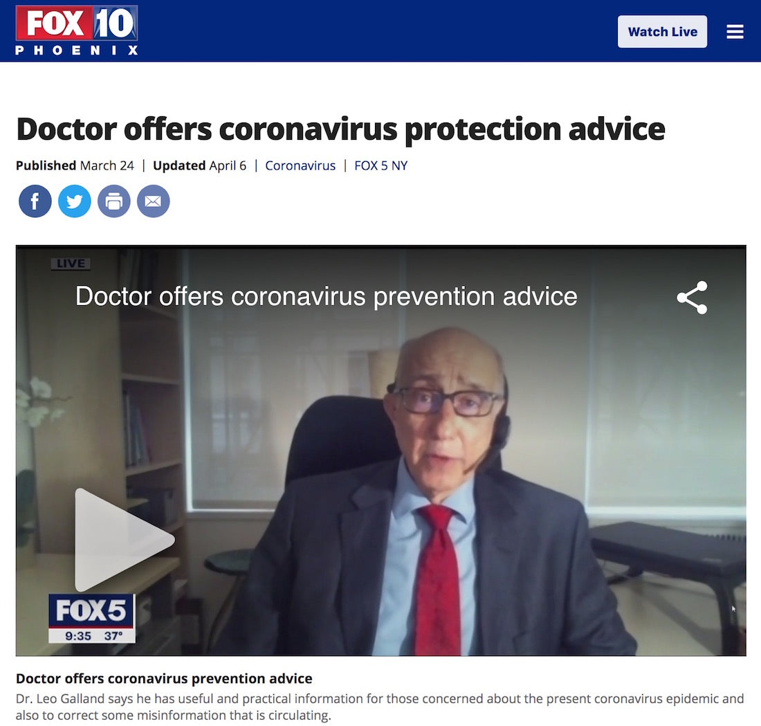 fox news article doctor offers coronavirus advice