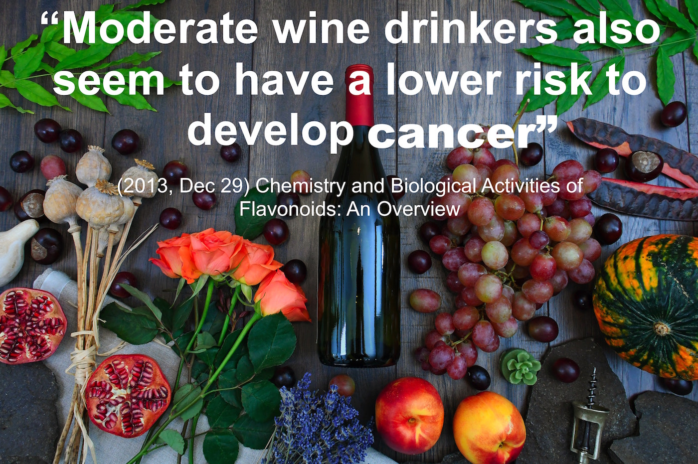wine reduces risk of cancer