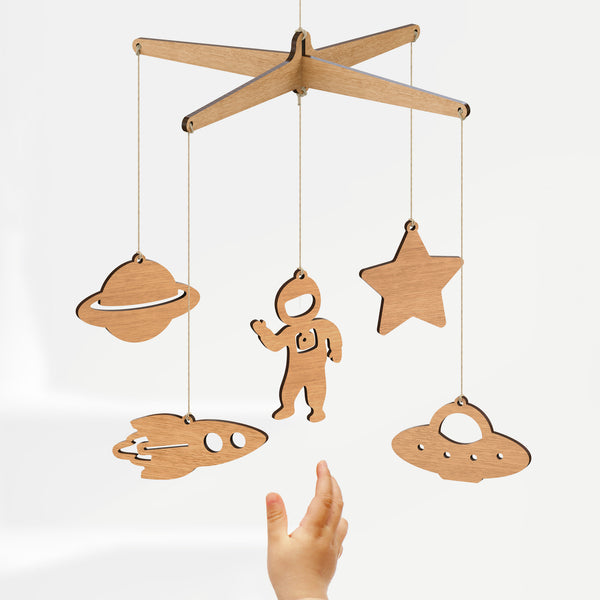 Space Baby Mobile - Byrne Woodware  - 2