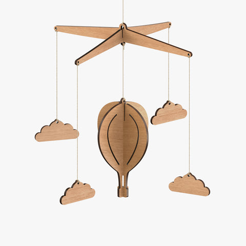 Hot Air Balloon Baby Mobile - Byrne Woodware  - 1