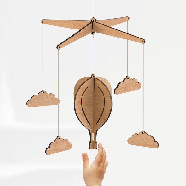 Hot Air Balloon Baby Mobile - Byrne Woodware  - 2