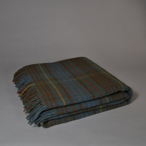 TWEEDMILL JURA TARTAN WOOL BLANKET - ANTIQUE BUCHANAN