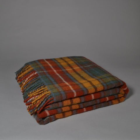 TWEEDMILL JURA TARTAN WOOL BLANKET - ANTIQUE HUNTING STEWART